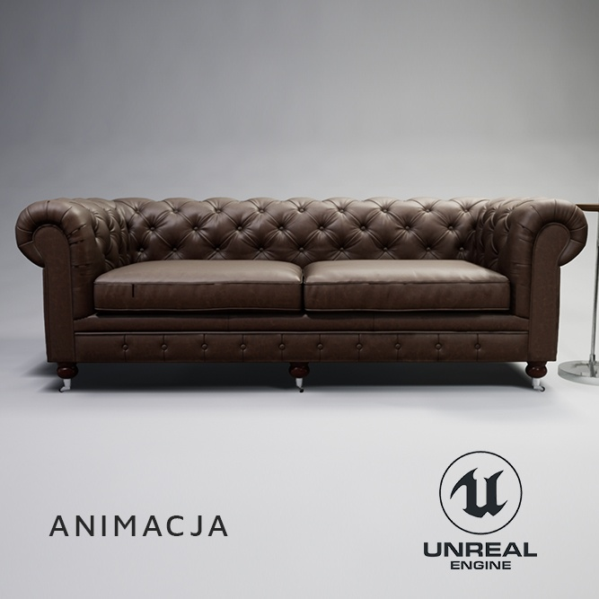 Sofa - wizualizacja mebli