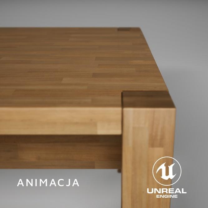Stół - wizualizacja mebli