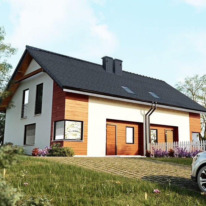 wizualizacja domków jednorodzinnych krotoszyn
