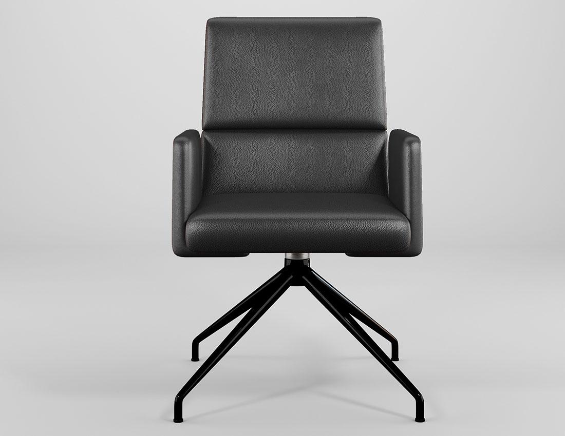 foto reallistyczny fotel biurowy czarny wizualizacja