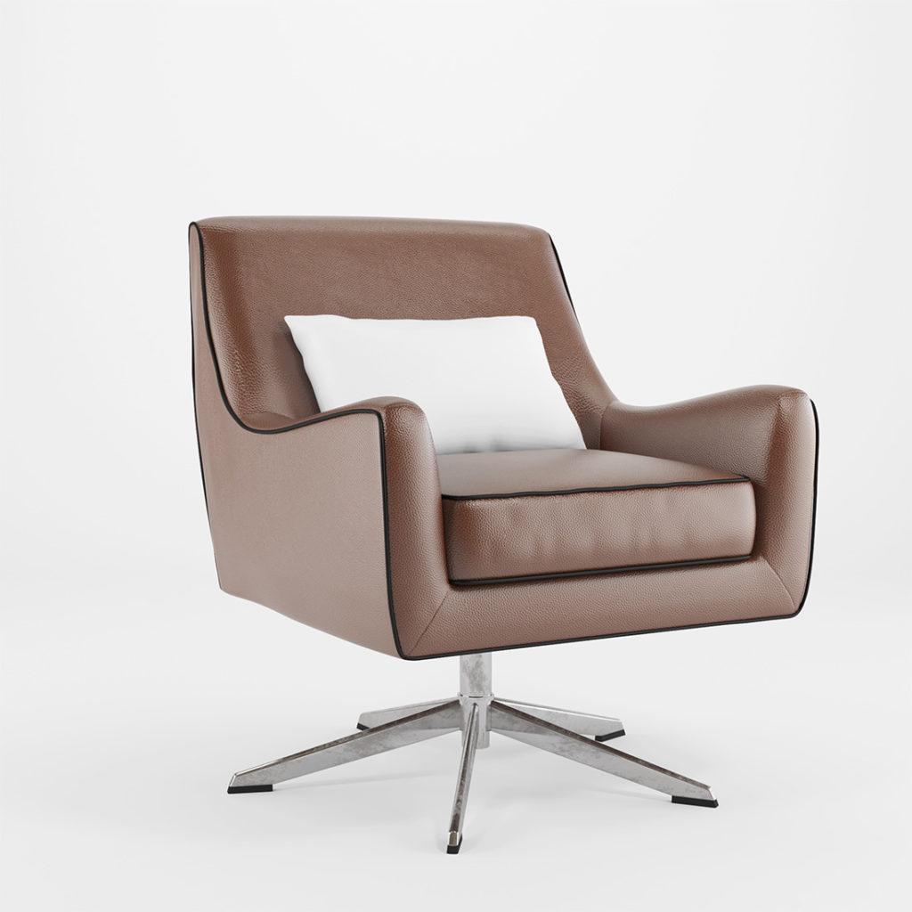 wizualizacja mebli tapicerowanych foteli biurowych