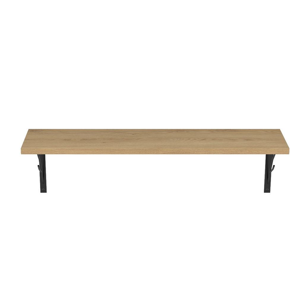 wizualizacja mebl i półki metalowo drewnianej